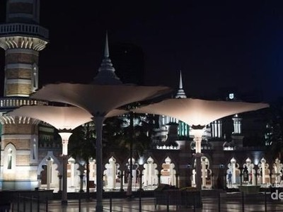 Bukan di Nabawi, Ini Masjid Jameek dari Malaysia