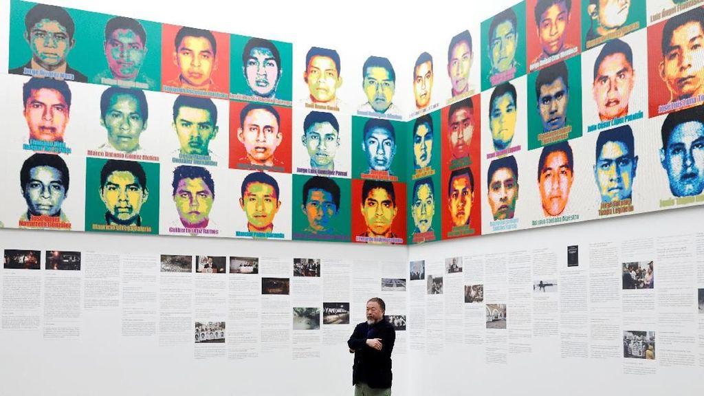 Seniman Ai Weiwei Bikin Instalasi Lego dari Kisah 43 Siswa Meksiko yang Dibunuh
