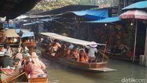 Potret Tempat Wisata Favorit di Thailand: Pasar Terapung