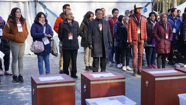 Partisipasi pencoblosan Pemilu serentak 2019 di Den Haag, Belanda, meningkat drastis dibanding Pemilu 2014.