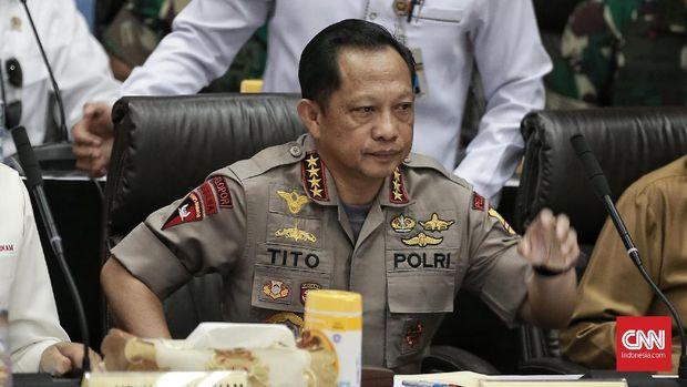 Kapolri Jenderal Tito Karnavian menyebut pihaknya tak menggunakan peluru tajam dalam pengamanan di MK.