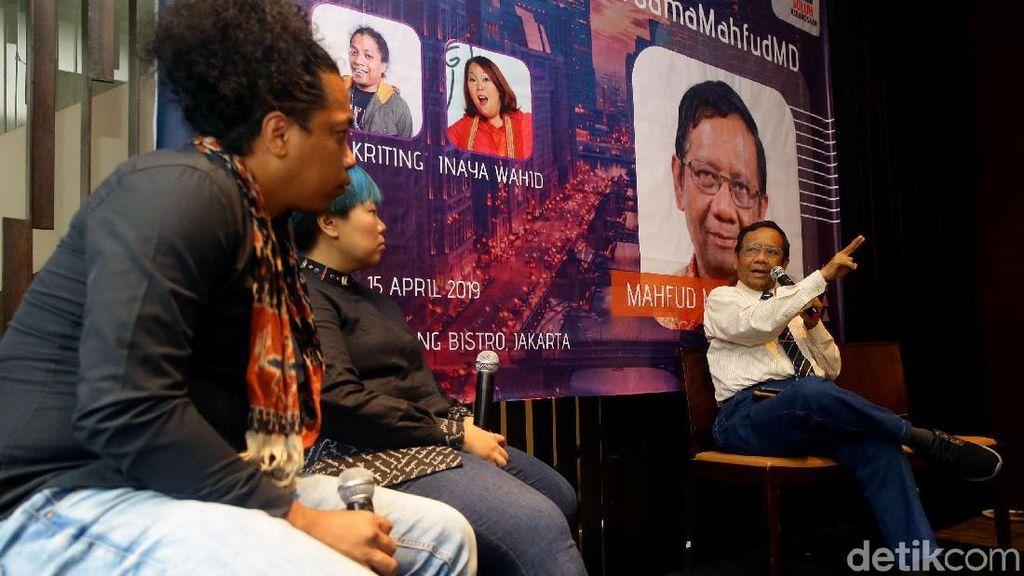 Yuk, Lihat Serunya Diskusi Mahfud MD Bareng Generasi Milenial