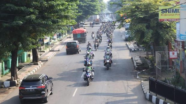 Amankan Pemilu, TNI-Polri Konvoi Keliling Purwakarta