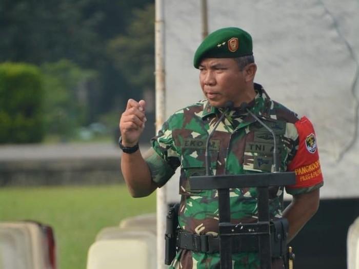 Pangdam Jaya Mayjen Eko Margiono memimpin Apel pengamanan Pemilu 2019 di DKI