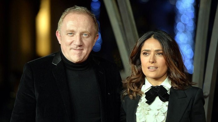 Salma Hayek dan suami miliunernya Francois-Henri Pinault. Foto: Getty Images
