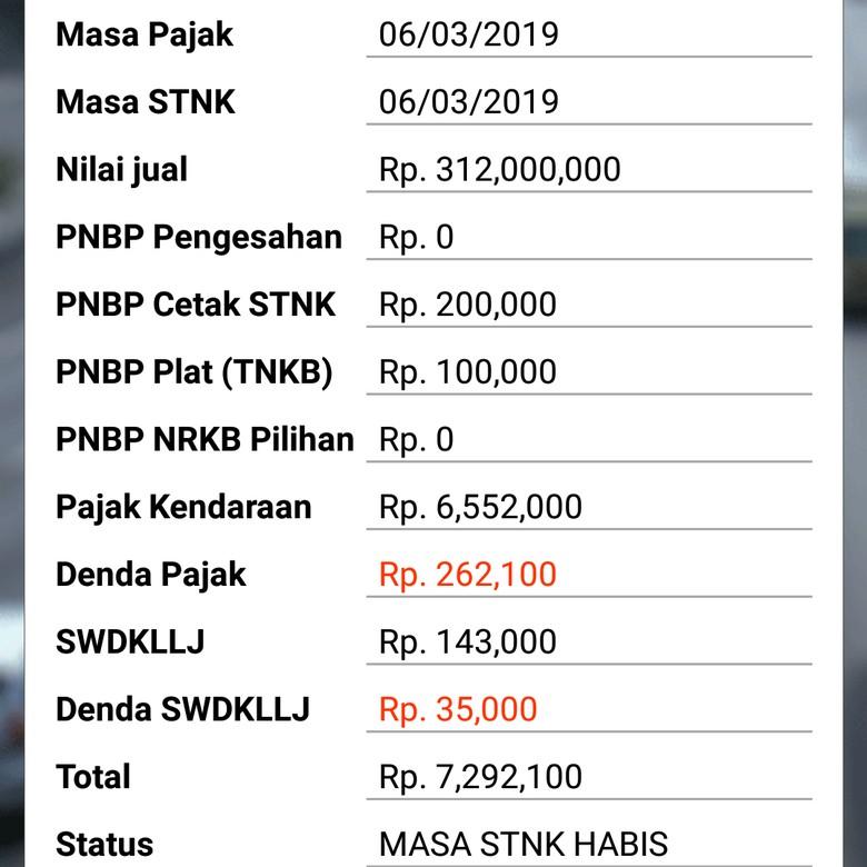 Foto: Screenshot Cek Ranmor DKI