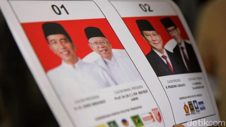 Cek Situng: TPS 03 Bagoang Jasinga Bogor, Suara Jokowi Tambah 100