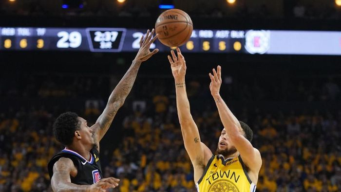 LA Clippers comeback dan kalahkan Golden State Warriors (Kyle Terada-USA TODAY Sports)