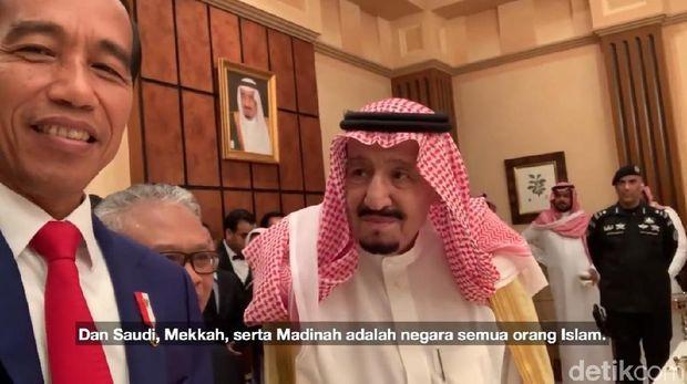Nge-vlog Bareng, Jokowi Ungkap Pesan Raja Salman untuk Indonesia