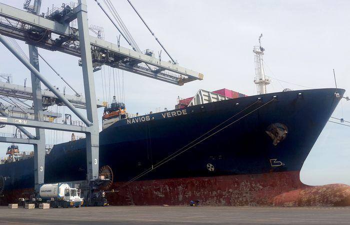 Kini, TPK bisa melayani kapal terbesar sekalipun dengan kapasitas 4.253 TEUs yang biasa berlayar internasional. Foto: dok. TPK Koja