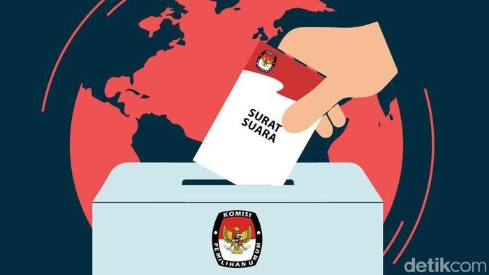 Ilustrasi Fokus Pemilu di Luar Negeri (Ilustrasi: Fuad Hashim)