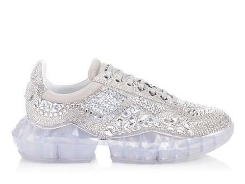 Sneakers Jimmy Choo bertabur Swarovski.