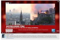 Momen ketika YouTube 'menyamakan' kebakaran Notre Dame dengan aksi terorisme 9/11 melalui fitur text box di bawah live streaming dari media.