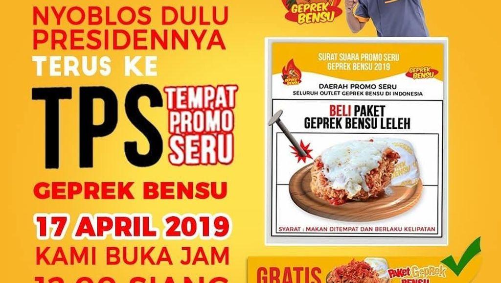 5 Restoran Artis Ini Tawarkan Promo Pemilu 17 April 2019 Menarik