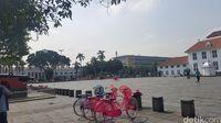 Pagi Ini Kawasan Kota Tua Masih Sepi