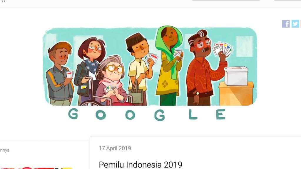 Google Doodle Rayakan Pemilu 2019