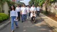 Anies bareng keluarga ke TPS (