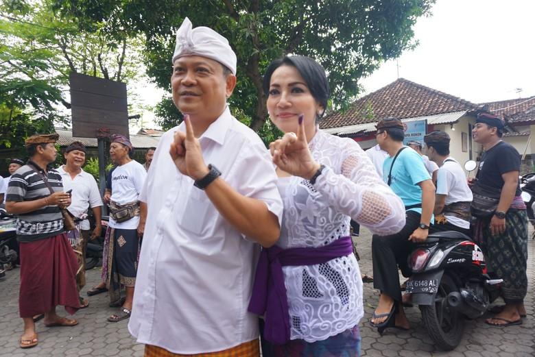 Walkot Denpasar Rai Mantra Senang Lihat Warga Antusias Nyoblos