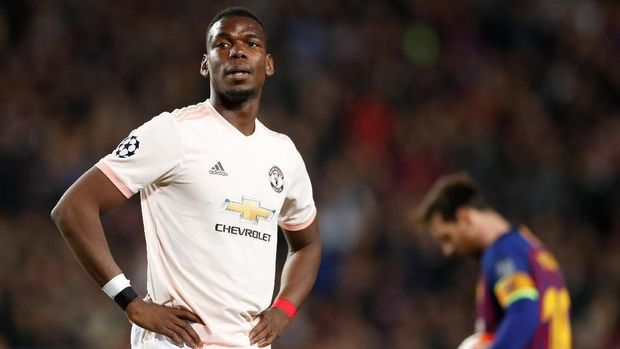 Paul Pogba tak mampu mengangkat permainan Manchester United di Camp Nou.