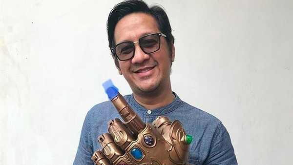 Andre Taulany Unjuk Jari Thanos Bertinta usai Nyoblos