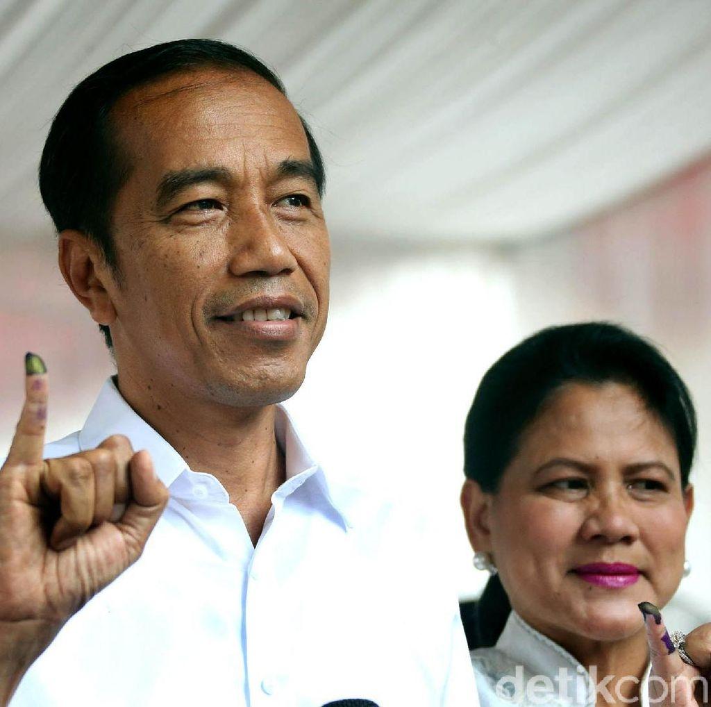 Jokowi Ajak Rakyat Kembali Kerja, Tunggu Penghitungan KPU