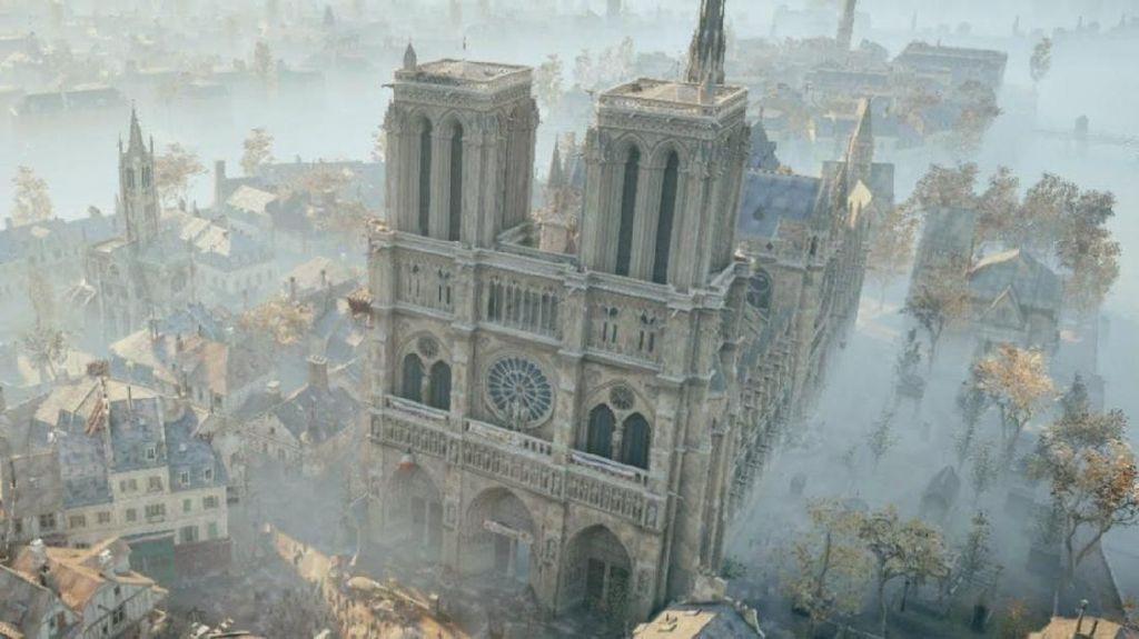 Game Assassins Creed Bisa Bantu Restorasi Katedral Notre-Dame