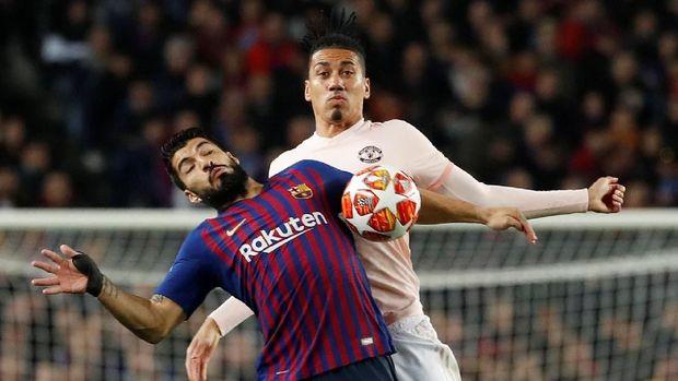 Manchester United sempat menyulitkan Barcelona di awal laga.