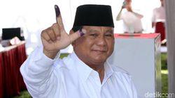 Berkemeja Putih, Prabowo Nyoblos di Bogor
