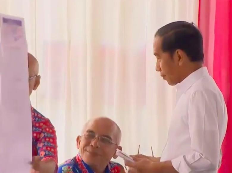 Tiba di Gambir, Jokowi Nyoblos di TPS 008