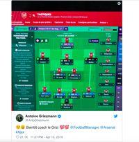 Antoine Griezmann Hobi Football Manager Pakai Arsenal