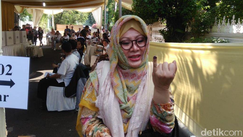 Ini Harapan Mamiek dan Tutut Soeharto Usai Nyoblos di Cendana