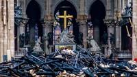 Macron Bertekad Bangun Kembali Katedral Notre-Dame dalam 5 Tahun
