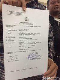 Laporan polisi TKN terhadap Sudrun Sugiono.
