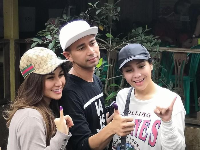 Raffi Ahmad, Nagita Slavina dan Nisya Ahmad