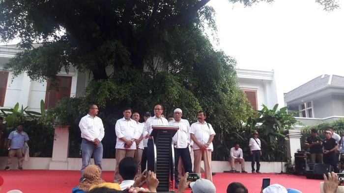 Elite Tim Prabowo-Sandi (Foto: Marlinda Oktavia/detikcom).