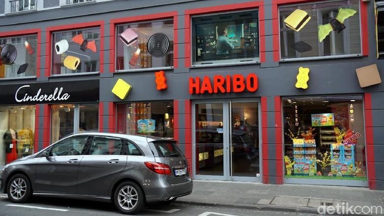 Toko permen Haribo di Kota Bonn, Jerman (Wahyu Setyo/detikcom)