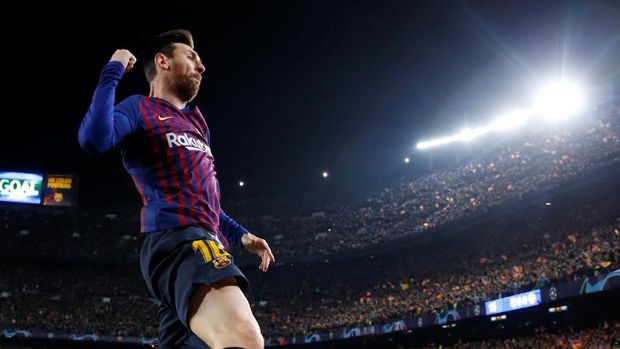 Barcelona lolos ke semifinal dengan skor meyakinkan.