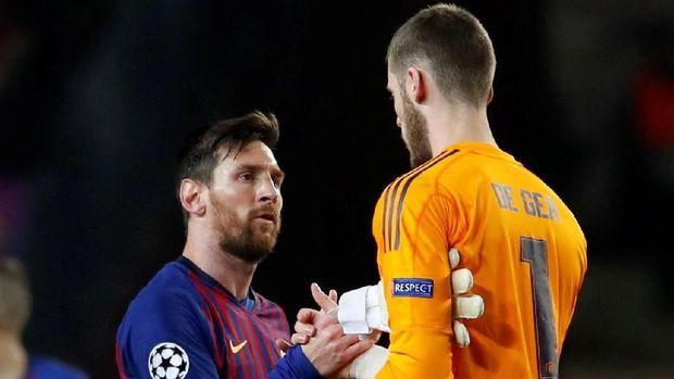 Lionel Messi membobol gawang David de Gea dua kali.