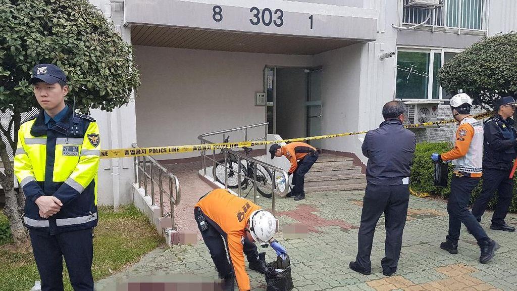 Pria Korea Bakar Apartemen Lalu Tikam Mati 5 Orang yang Selamatkan Diri