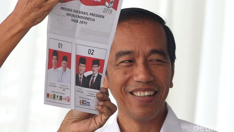 Exit Poll Poltracking: Jokowi Unggul 8% dari Prabowo