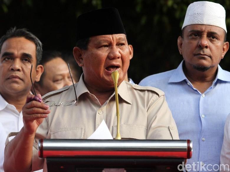 Percakapan Prabowo-Sandiaga Sebelum Deklarasi Tanggapi Quick Count