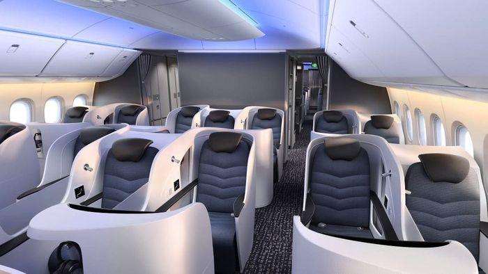 Boeing menyebut pesawat ini memiliki kemampuan untuk mengurangi penumpang jetlag. Pool/Boeing via CNN.