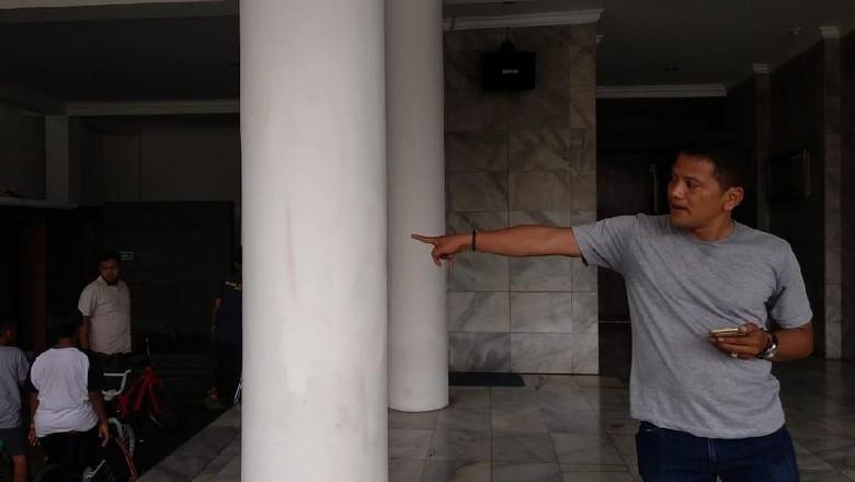 Coretan di Masjid Cilandak Langsung Dihapus Pengurus