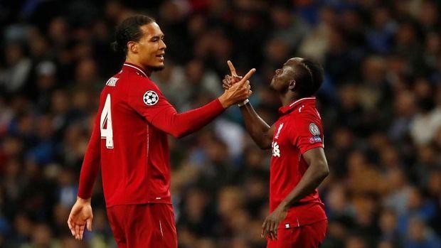 Sadio Mane dan Virgil van Dijk mencetak gol pada leg kedua perempat final Liga Champions.