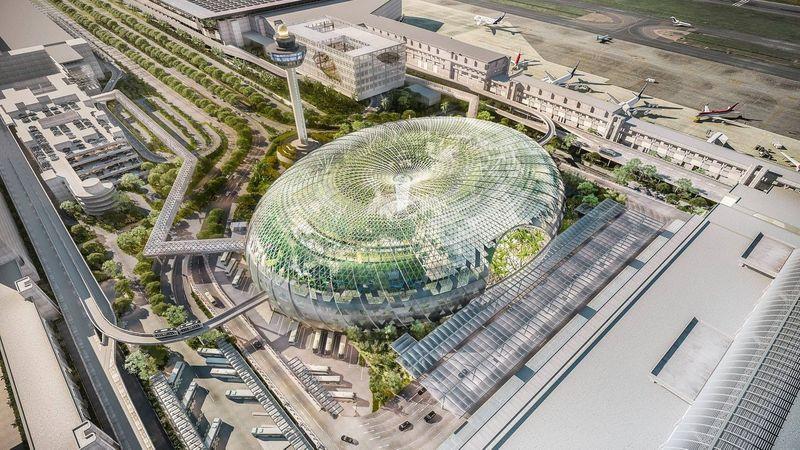 Jewel Changi Airport telah resmi dibuka kemarin, hari Rabu (17/4). Terminal ini didesain sagant mewah dan akan membuat siapapun berdecak kagum. (Changi Airport Singapore)