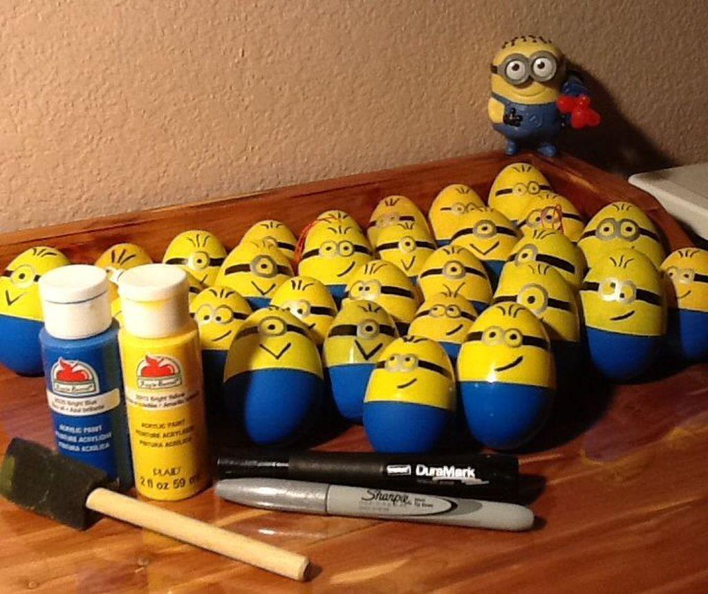 Gerombolan Minions lucu juga kalau dibuat dari telur. Foto: via Brainberries