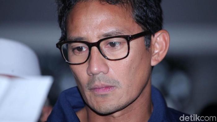 Sandiaga Uno ditakutkan terserang DBD. Foto: Lamhot Aritonang