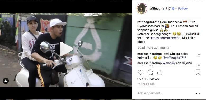 Foto: Screenshoot (Instagram @raffinagita1717)