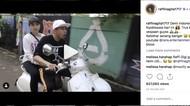 Tidak Pakai Helm Saat Naik Motor, Raffi Ahmad Dinyinyir Warganet