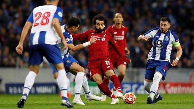 Mohamed Salah ikut mencetak gol ke gawang FC Porto.